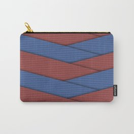 Blue and Red Ribbons Carry-All Pouch
