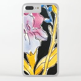 Iris Floral Clear iPhone Case
