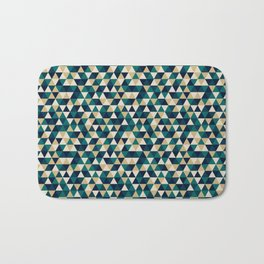 Colorful Triangles Pattern 3 Bath Mat