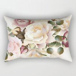 Vintage Roses Shabby Chic Rectangular Pillow