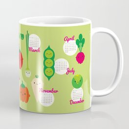 5 A Day Kawaii Vegetables 2019 Calendar Coffee Mug
