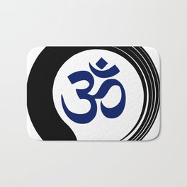 Namaste Zen Circle Meditation Prayer Ohm Aum Om Oum Peace Tai Chi Taiji Bath Mat