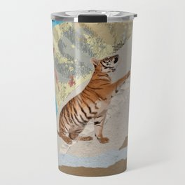 Tiger Cub - Mixed Media Digital art Travel Mug