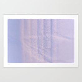 Crumpled Lines on Lilac Paper Texture Art Print