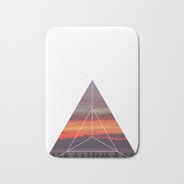 Good Friends and Sunset - Geometric Photography Bath Mat