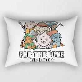 For The Love of Dog Rectangular Pillow