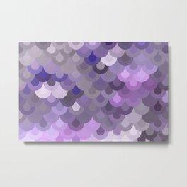 Purple Scales Metal Print