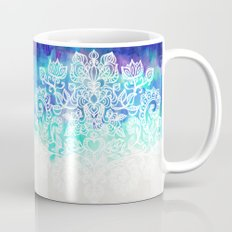 Indigo & Aqua Abstract - doodle painting Coffee Mug