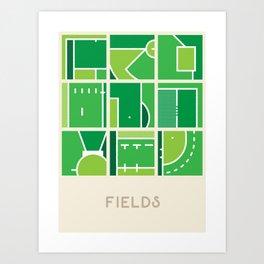 Fields (Sports Surfaces Series, No. 2) Art Print