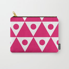 Pink Traingles Carry-All Pouch