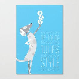 Top Dog Quote I Canvas Print