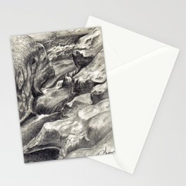 Black and White 2 Stationery Cards