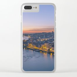The view from Serra do Pilar - Porto and Gaia Clear iPhone Case