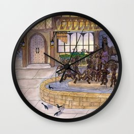 Early Morning at the Eolian Wall Clock