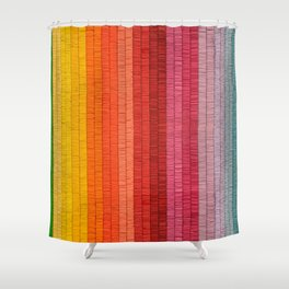 Band of Rainbows Shower Curtain