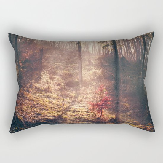 Little Red Tree Rectangular Pillow