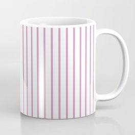 Princess Pink Pinstripe on White Coffee Mug