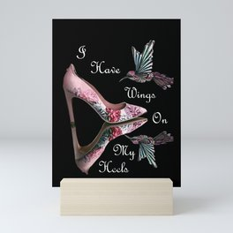 Wings On My Heels Mini Art Print