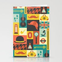 sherlock Stationery Cards featuring Sherlock by Ariel Wilson
