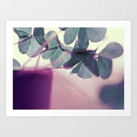clover Art Prints featuring clover by Ingrid Beddoes