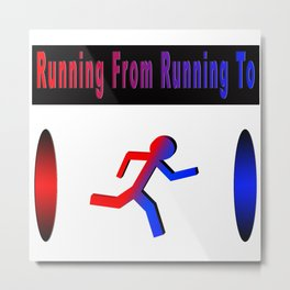 The Runner's Spectrum Metal Print