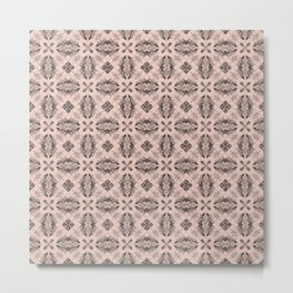 Pale Dogwood Diamond Floral Metal Print