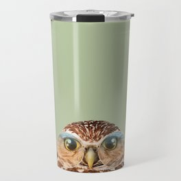 OWL WITH GLASSES Travel Mug