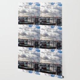 Panoramic view of Hamburg Wallpaper