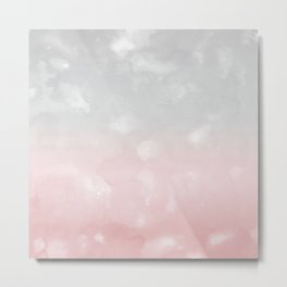 Touching Blush Gray Abstract Painting #1 #ink #decor #art #society6 Metal Print