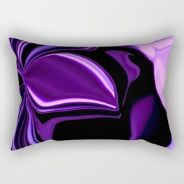 purple tropical flower abstract digital painting Rectangular Pillow