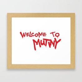Welcome to Mutiny - Halt & Catch Fire Framed Art Print