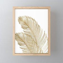 Palm Leaves Finesse Line Art with Gold Foil #2 #minimal #decor #art #society6 Framed Mini Art Print