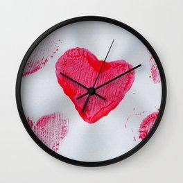 LOVE-ly Hearts Wall Clock