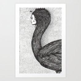 human swan Art Print