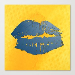 dp048-8 Watercolor kiss Canvas Print