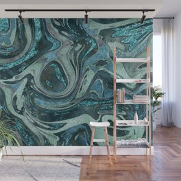 Magic Marble Gemstone Turquoise Teal Wall Mural