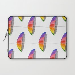 Rainbow Beach Umbrella Laptop Sleeve