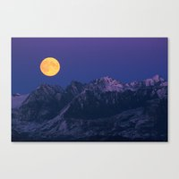 moonrise Canvas Prints featuring Moonrise by 3AMArts