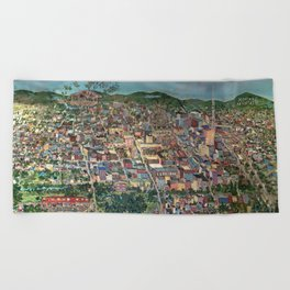 Map of Scranton Mural Print Beach Towel