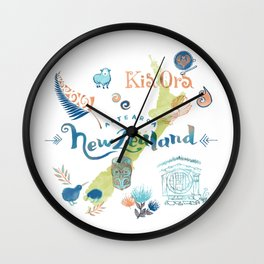 Drawings from New Zealand Wall Clock