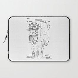 patent art Spalding Flying Machine  1889 Laptop Sleeve