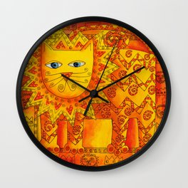 Patterned Lion Wall Clock