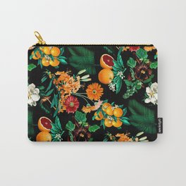Fruit and Floral Pattern Carry-All Pouch