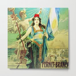 1910 Fernet Branca Liqueur Aperitif Advertisement Poster Print Metal Print