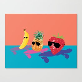 Skating Fruit Salad Canvas Print