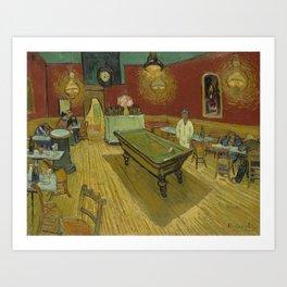 """Vincent van Gogh """"Le café de nuit (The Night Café)"""" Art Print"""