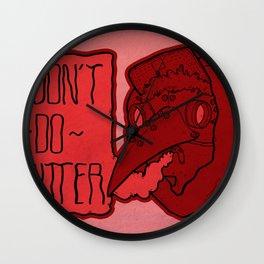 I Don't Do Twitter Wall Clock