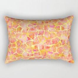 Orange Giraffe Print Rectangular Pillow