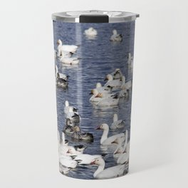 Snow Geese at Centennial Beach Travel Mug