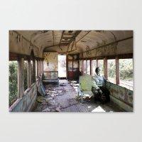 train Canvas Prints featuring train by Pilar Parada